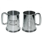 Father of the Groom Tankard 1 Pint Pewter Tankard