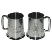 Brother of the Groom Tankard 1 Pint Pewter Tankard