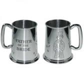 Father of the Bride Tankard 1 Pint Pewter Tankard