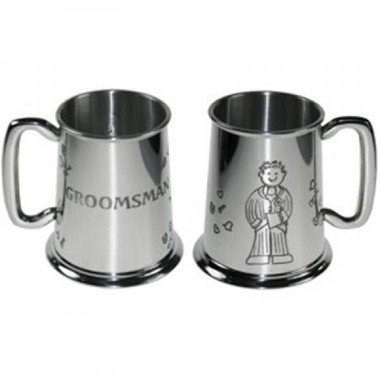 Groomsman Wedding Tankard 1 Pint Pewter