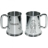 Usher Wedding Tankard 1 Pint Pewter