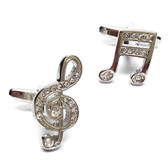 Sparkling Musical Crystal Cufflinks
