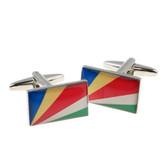 Flag of The Seychelles cufflinks