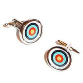 Round Archery Target / Boss Cufflinks