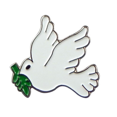 Peace Dove Enamel Lapel PinBadge