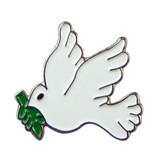 Peace Dove Enamel Lapel PinBadge