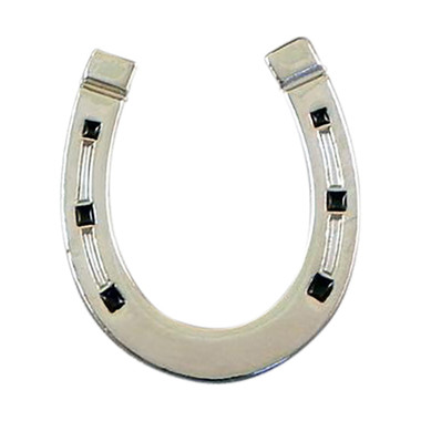 'Lucky' Horseshoe style lapel pin badge