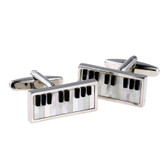Mother of Pearl Insert Piano Keyboard Cufflinks