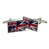The Australian Flag combined with the British Union Jack together on cufflinks
