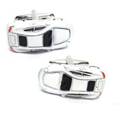 White Sports Car Cufflinks