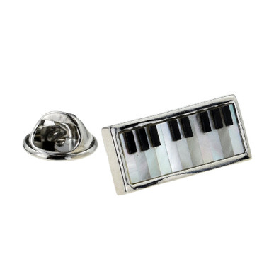 Mother of Pearl Piano Keyboard Lapel Pin Badge