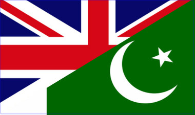 Union Jack and Flag of Pakistan combined design