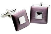 Square Purple cufflinks