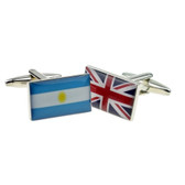 One of each Argentina Flag & Union Jack Cufflinks