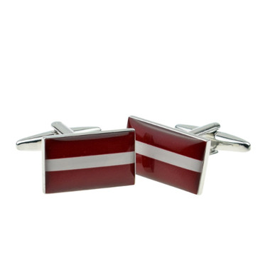 National Flag of Latvia Cufflinks