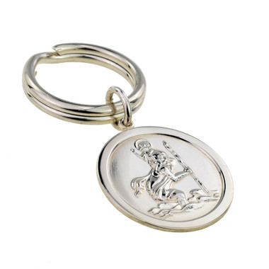 Sterling Silver St. Christopher Key Ring