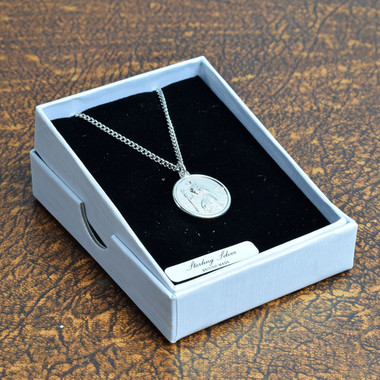 Sterling Silver St. Christopher neck pendant