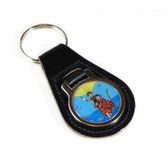 St Christopher Leather keyring