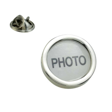 Round photo frame lapel badge