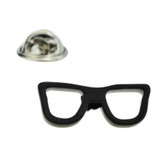 Black Glasses Frame Lapel Badge