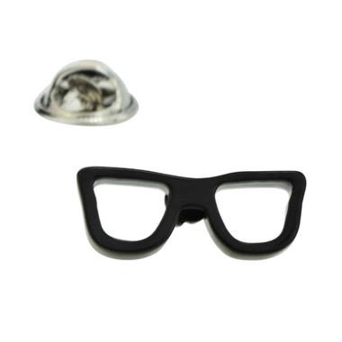 Black Glasses Frame Lapel Badge