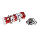 Red and White Christmas Cracker Lapel Pin Badge