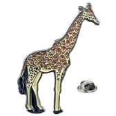 Depict this gentle giant on your lapel with our enamel giraffe pin badge