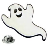 Super spooky fun ghost lapel pin badge
