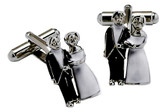 Bride and Groom Wedding Cufflinks