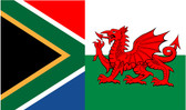 South African and Welsh Flag combined image
