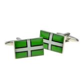 Devon Flag of Saint Petroc cufflinks
