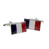 Stylish French Flag Cufflinks