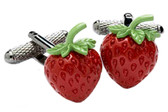 Strawberry Novelty Cufflinks