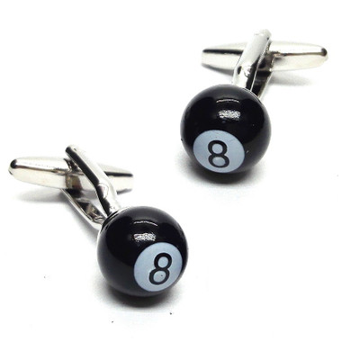 Number 8 Pool Ball Cufflinks