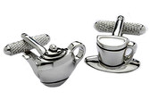 """Tea Time"" Novelty cufflinks"