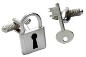 Padlock & Key Novelty cufflinks