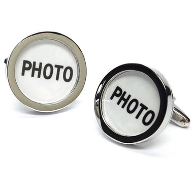 Choose your own picture to wear in your cufflinks