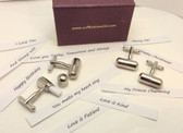 Capsule Cufflinks : What would your cufflinks say?
