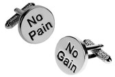 Motivation 'No Pain :  No Gain' Cufflinks