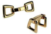 Gold Modern cufflinks
