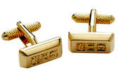 """Gold Bars"" Ingot Formal cufflinks"