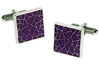 Purple Mosaic cufflinks