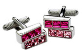 2 tier Swarovski cufflinks
