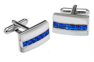 Blue Swarovski elements Cufflinks