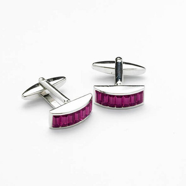 Amethyst Swarovski cufflinks