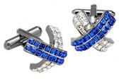 Blue and Clear Swarovski elements Cufflinks