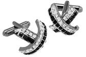 Black and Clear Swarovski elements Cufflinks