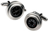 Compass & Watch cufflinks