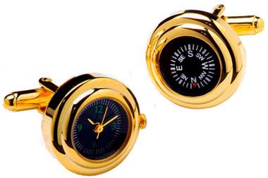 Compass & Watch cufflinks