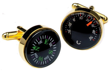 Compass & thermometer cufflinks